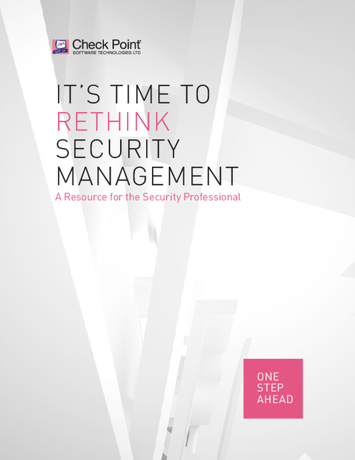 It's Time to Rethink Security Management: A Resource for the Security Professional