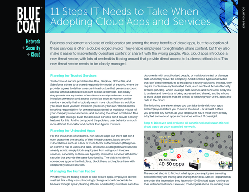 11 Critical Steps to Safe Cloud Adoption