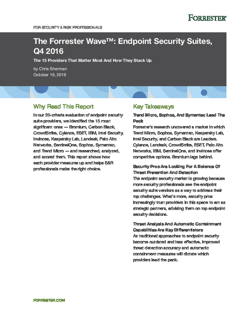 15 Endpoint Security Suite Providers That Matter Most
