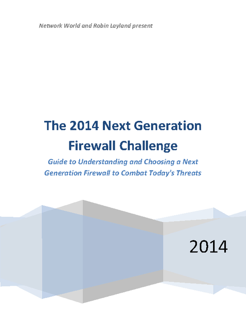 The 2014 Next Generation Firewall Challenge