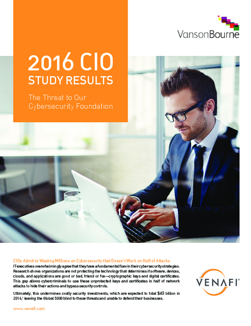 2016 CIO Study: The Threat to Our Cybersecurity Foundation