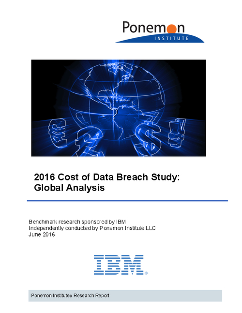 2016 Cost of Data Breach Study: Global Analysis