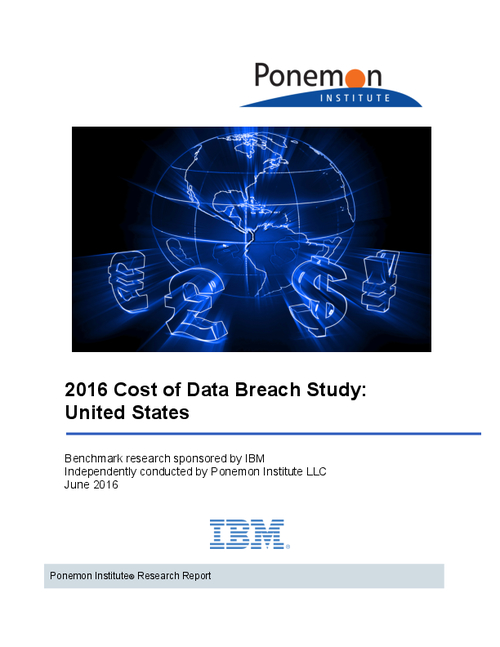 2016 Cost of Data Breach Study: United States