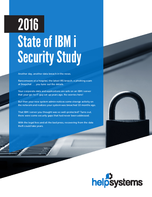 2016 State of IBM i Security Study