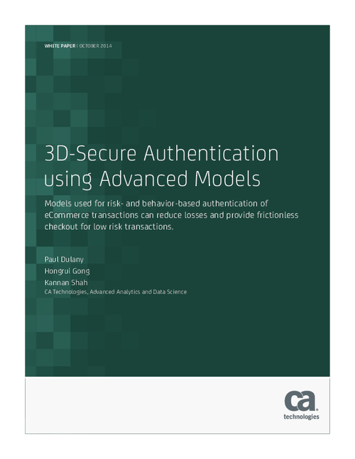 3D-Secure Authentication using Advanced Models