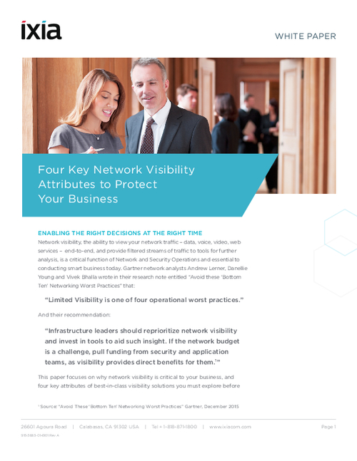 4 Key Network Visibility Attributes to Protect Your Business