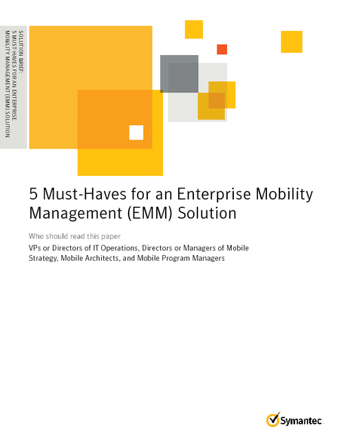 5 Requirements for Secure Enterprise Mobility