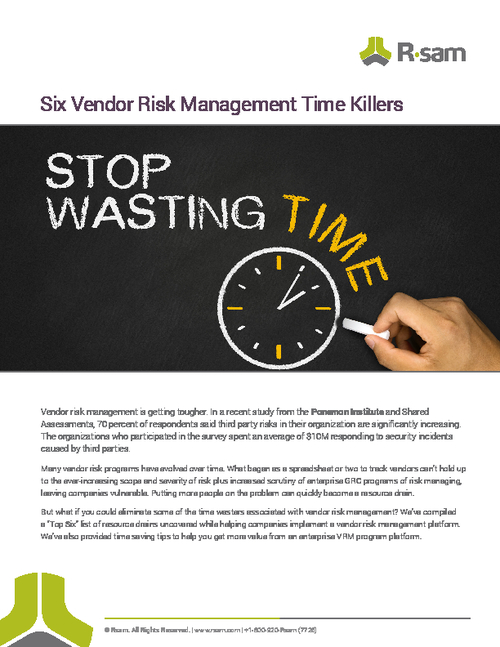 6 Vendor Risk Management Time Killers