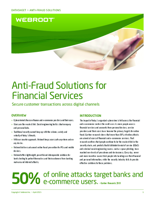 Anti-Fraud Solutions for Financial Services