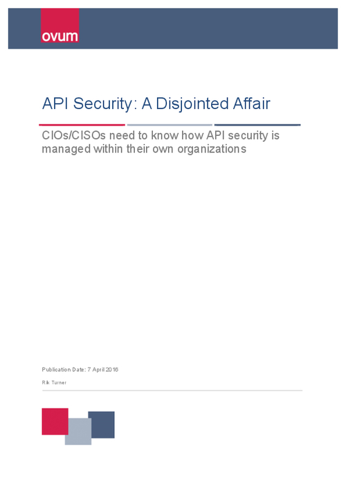 Survey Report: API Security - A Disjointed Affair
