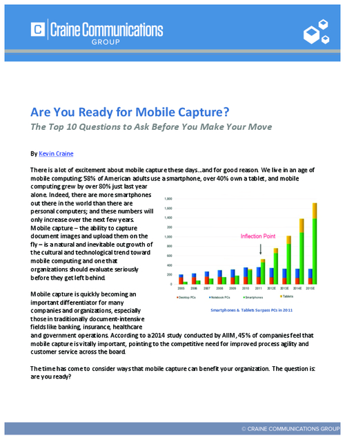 Are You Ready for Mobile Capture?