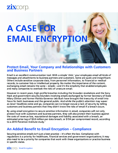 The Benefits of Email Encryption: GLBA, FFIEC, HIPAA Compliance