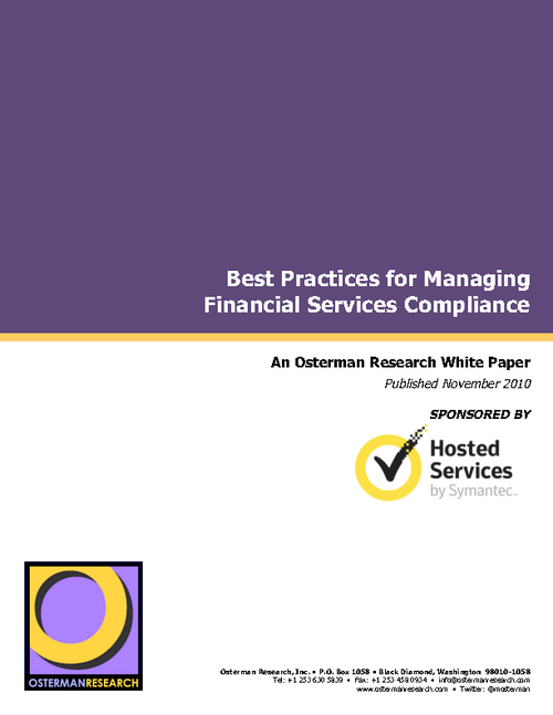 Best Practices for Managing Financial Services Compliance