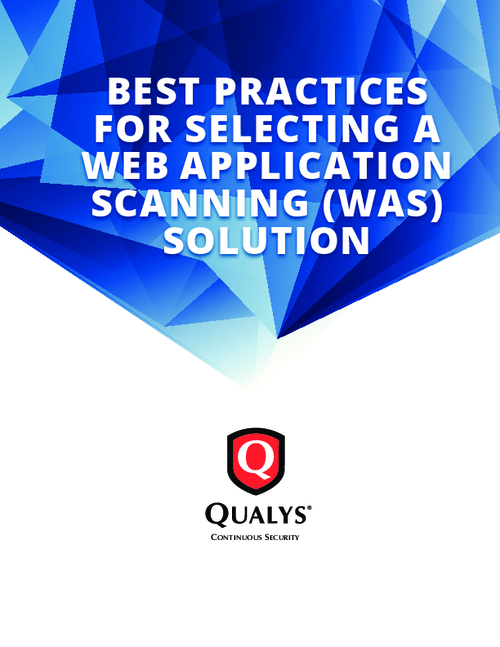 Best Practices for Selecting a Web Application Scanning Solution