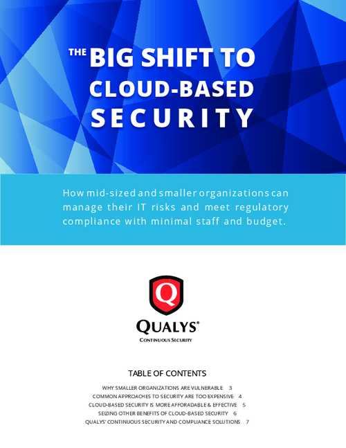 The Big Shift to Cloud-based Security