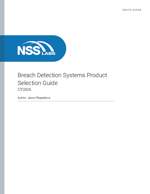 Breach Detection Systems: Product Selection Guide