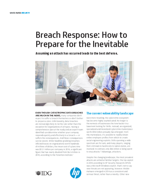 Breach Response: How to Prepare for the Inevitable