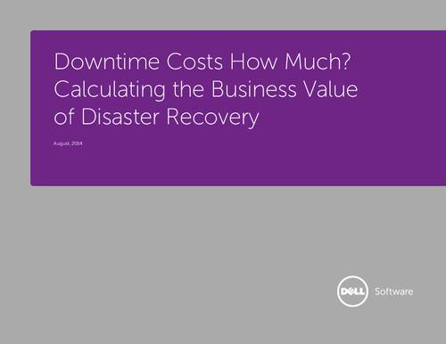 Calculating the Business Value of Disaster Recovery