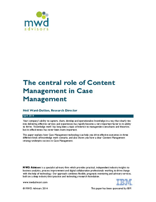 The Central Role of Content Management in Case Management