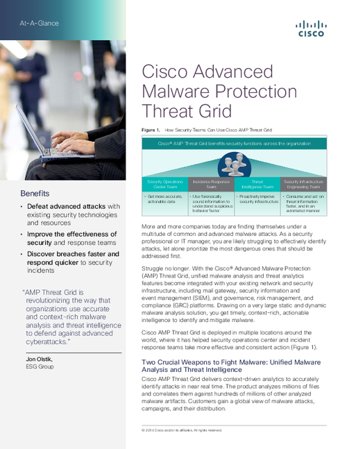 Cisco Advanced Malware Protection Threat Grid