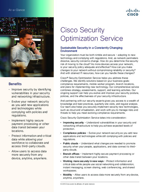 Cisco Security Optimization Service