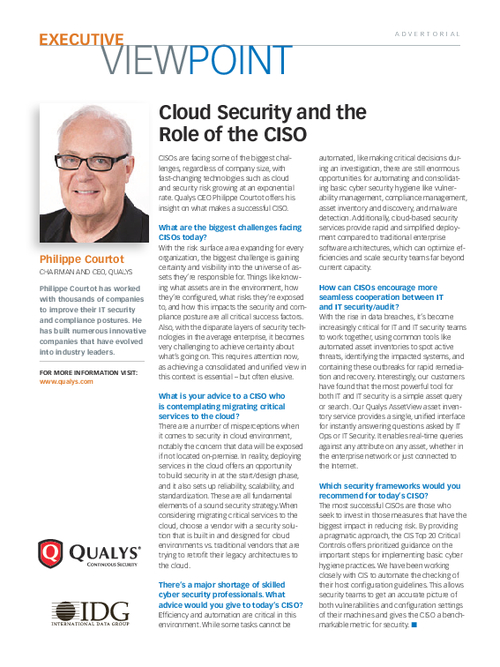 Cloud Security and the Role of the CISO