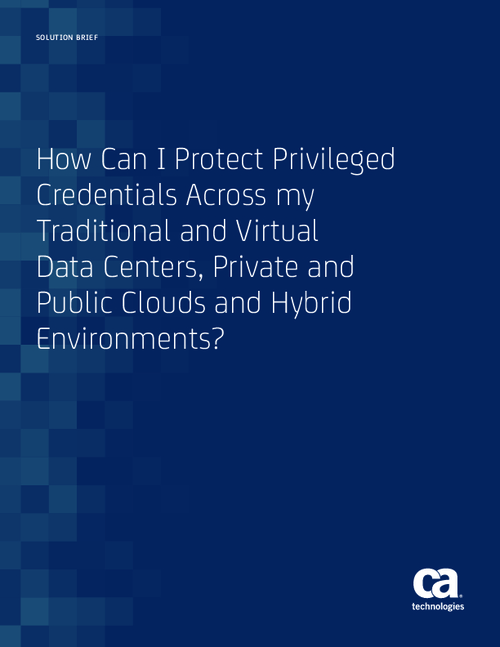 Conquering Privileged Credential Management in the Cloud Era