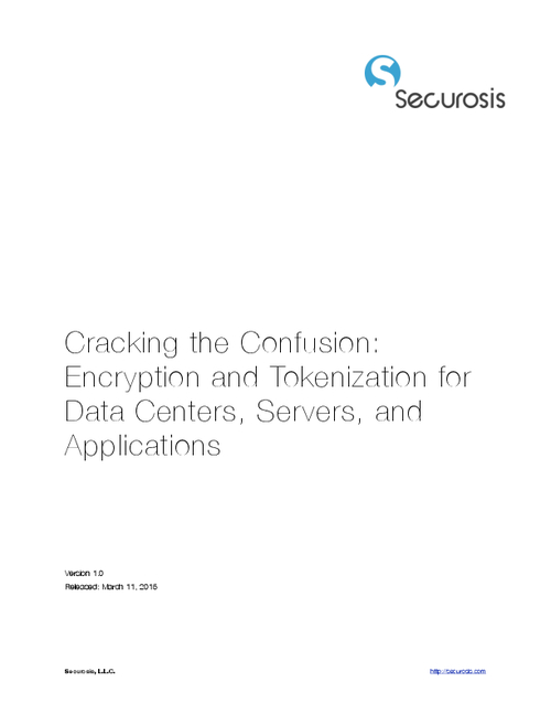 Cracking the Confusion: Encryption and Tokenization for Data Centers, Servers, and Applications