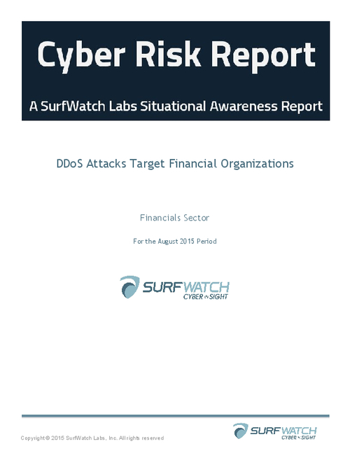 Cyber Risk Report: DDoS Attacks Target Financial Organizations