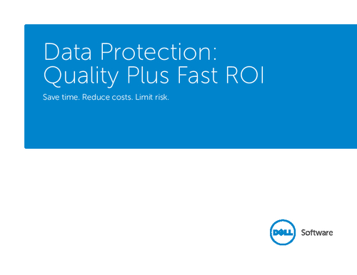 Data Protection: Quality Plus Fast ROI