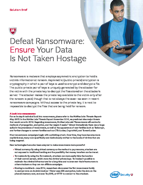 Defeat Ransomware: Ensure Your Data Is Not Taken Hostage