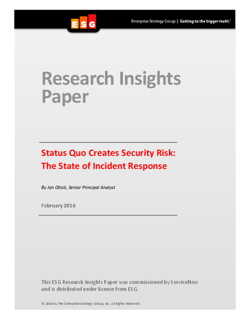 Does Status Quo Create Security Risk?