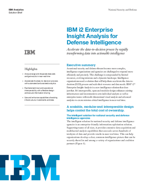 Enterprise Insight Analysis for Defense Intelligence