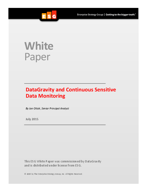 ESG Report: Continuous Sensitive Data Monitoring