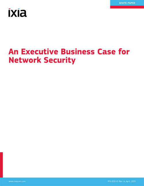 An Executive Business Case for Network Security