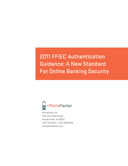 FFIEC Authentication Guidance: A New Standard For Online Banking Security
