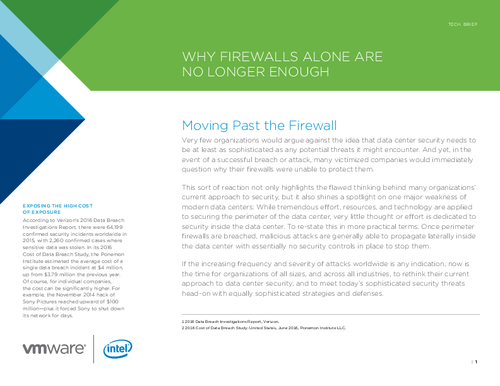 Why Firewalls Alone Are No Longer Enough