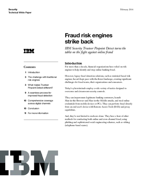 Fraud Risk Engines Strike Back