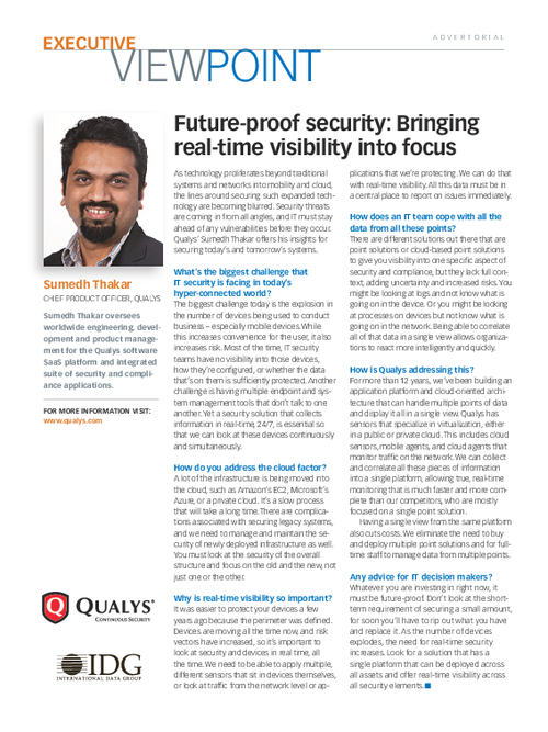 Future-proof Security: Bringing Real-time Visibility into Focus