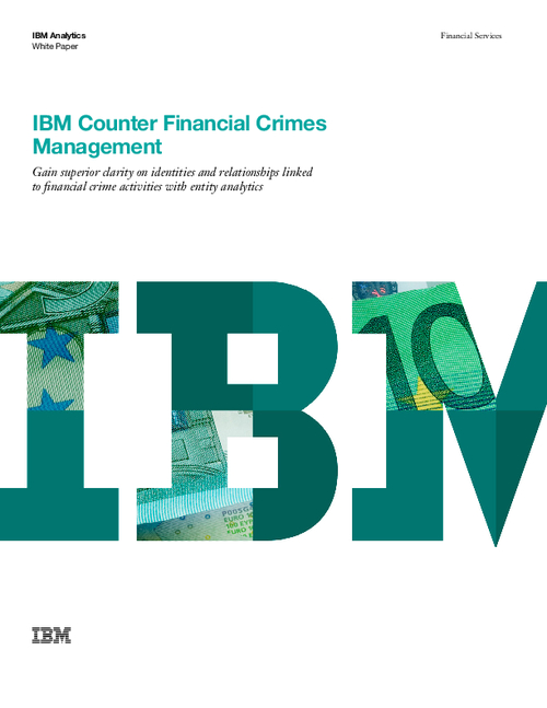 Gaining Clarity On Identities And Relationships Linked To Financial Crime Activities