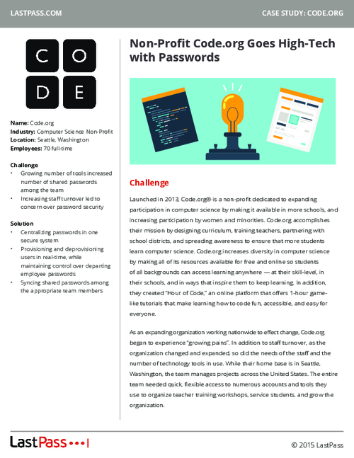 Go High-Tech with Passwords