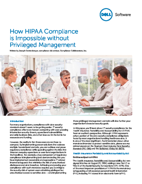 Why HIPAA Compliance is Impossible Without Privileged Management