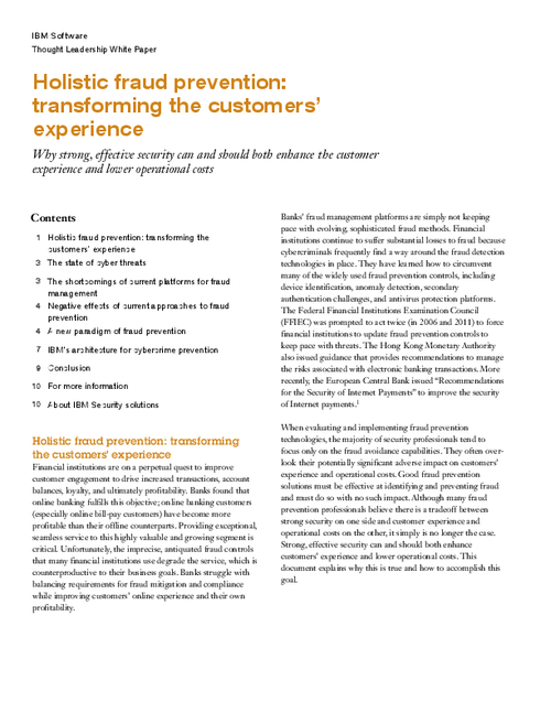 Holistic Fraud Prevention: Transforming the Customer's Experience