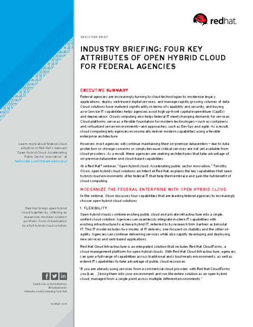 How to Modernize the Federal Enterprise with Open Hybrid Cloud
