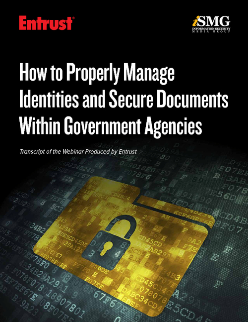 How to Properly Manage Identities and Secure Documents Within Government Agencies