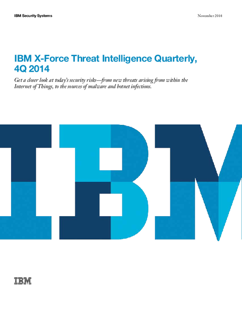 IBM X-Force Threat Intelligence Quarterly 4Q 2014