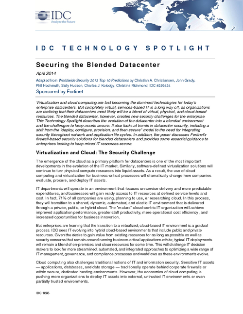 Securing the Blended Data Center
