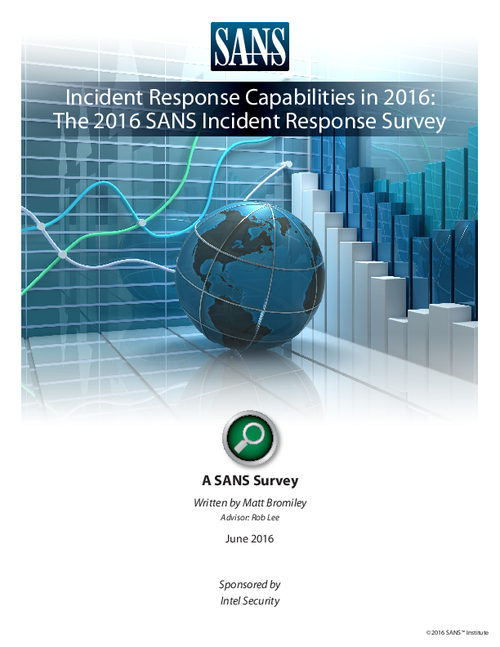 Incident Response Capabilities in 2016: The 2016 SANS Incident Response Survey