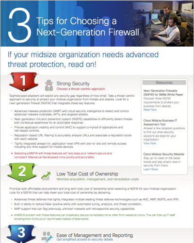 Infographic: 3 Tips for Choosing a Next-Generation Firewall