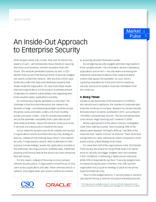 An Inside-Out Approach to Enterprise Security